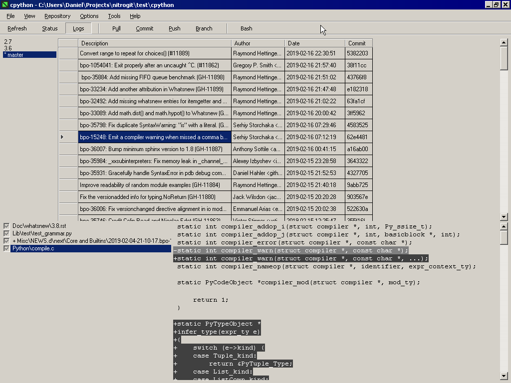 NitroGit - Windows Git GUI client